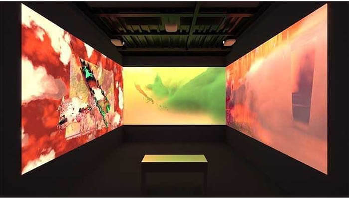 """Snow Yunxue Fu """"Picture of the Liminal exhibition"""" read the blog on Agora Digital Art or watch her Agora Talk"""