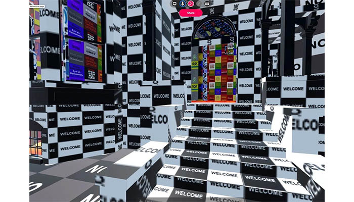"Claudia Hart ""The Dolls' House"" 2020 visit on Hubs Mozilla for Agora Digital Art"