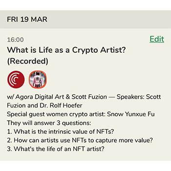 21.03.19 Numomo Partner event with Agora Digital Art