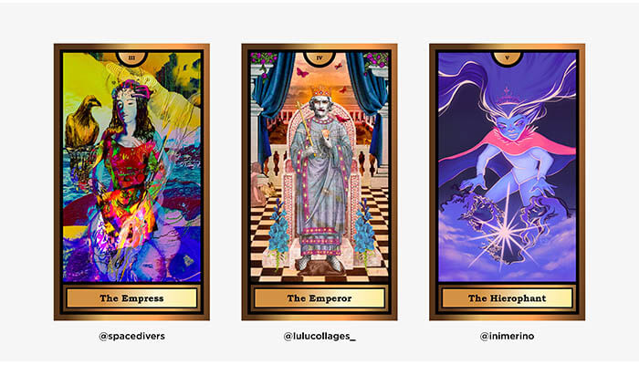 The Arcana Crypto Tarot by WOCA artists 2 - Agora Digital Art