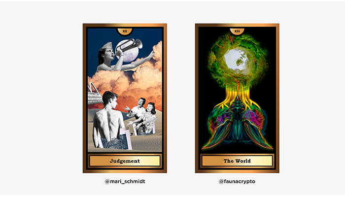 The Arcana Crypto Tarot by WOCA artists 8 - Agora Digital Art
