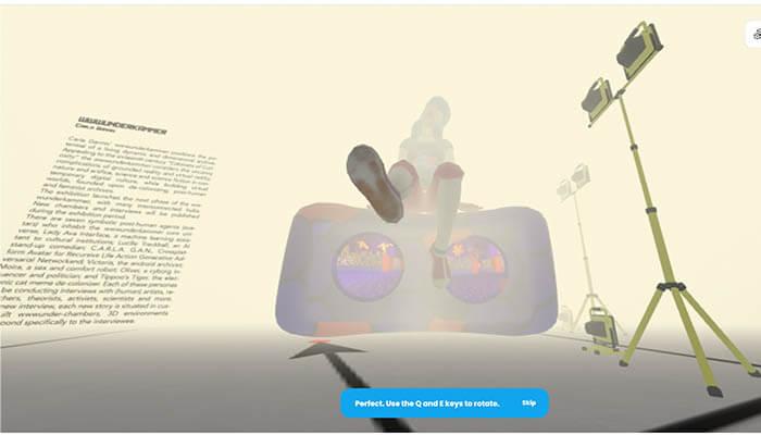 Carla Gannis - Recollecting Future (2021) for Agora Digital Art