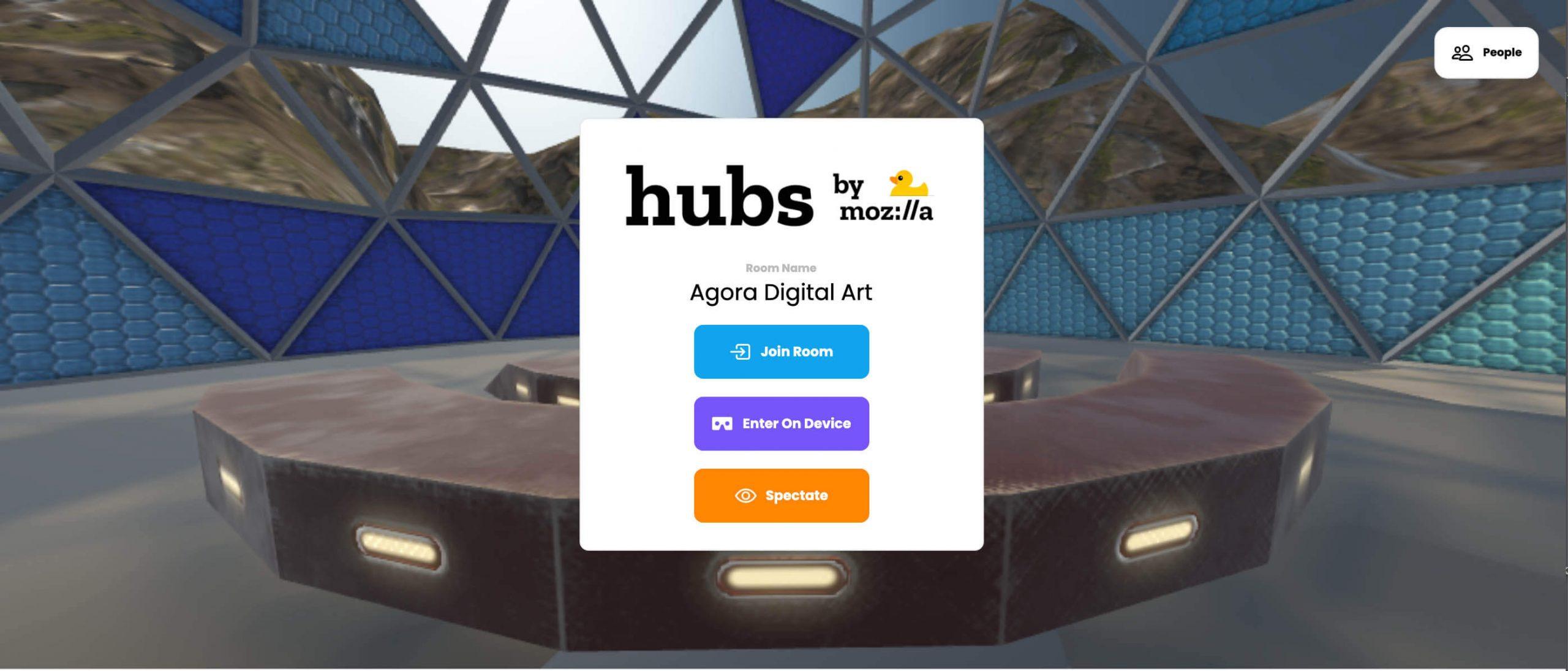 Agora Digital Art on Mozilla Hubs