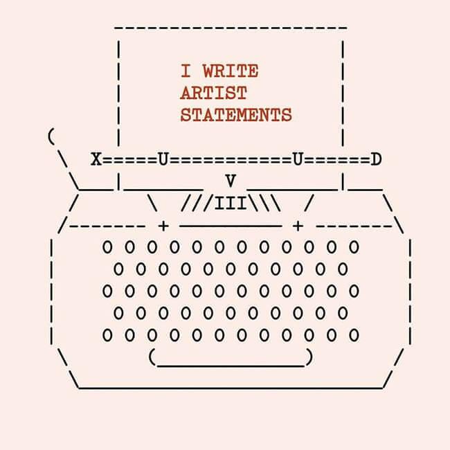 Writing Artists Statement copy