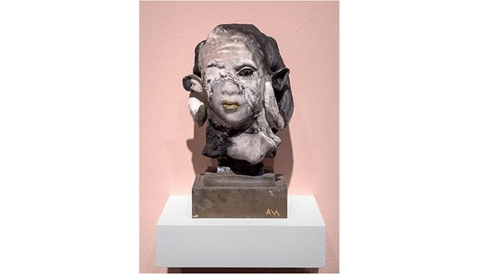 Auriea Harvey Ram I (ancestor black and white), 2020 - bitforms gallery - Agora Digital Art