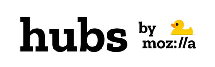 hubs by Mozilla logo - the VR venue for Agora Digital Art