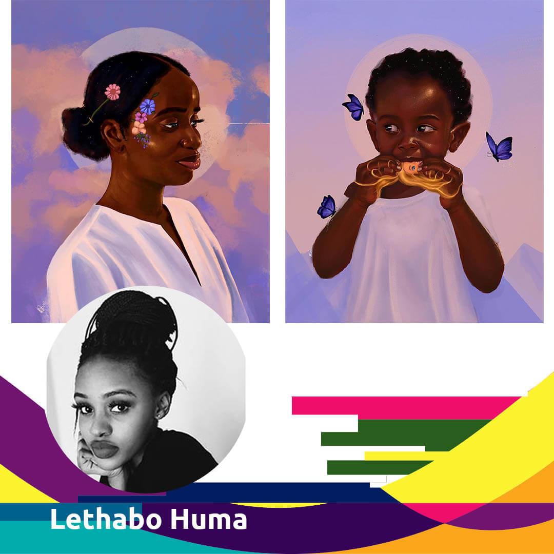 Woman Digital Artist - Lethabo Huma for Agora Digital Art