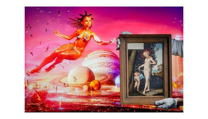 Serwah Attafuah -Venus with Cupid stealing honey - Agora Digital Art