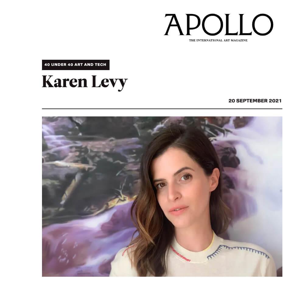 Karen Levy - Apollo Magazine 40 under 40