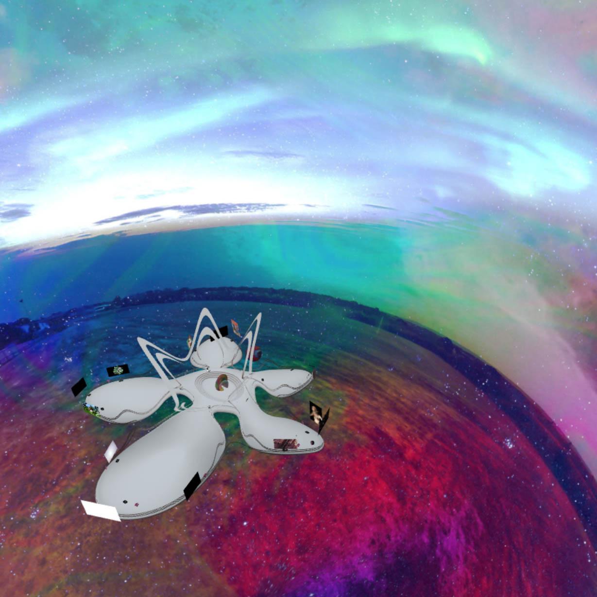 Scene built by Metaxu.Studio -Meta5: The Sublime   VR Exhibit for Agora Digital Art